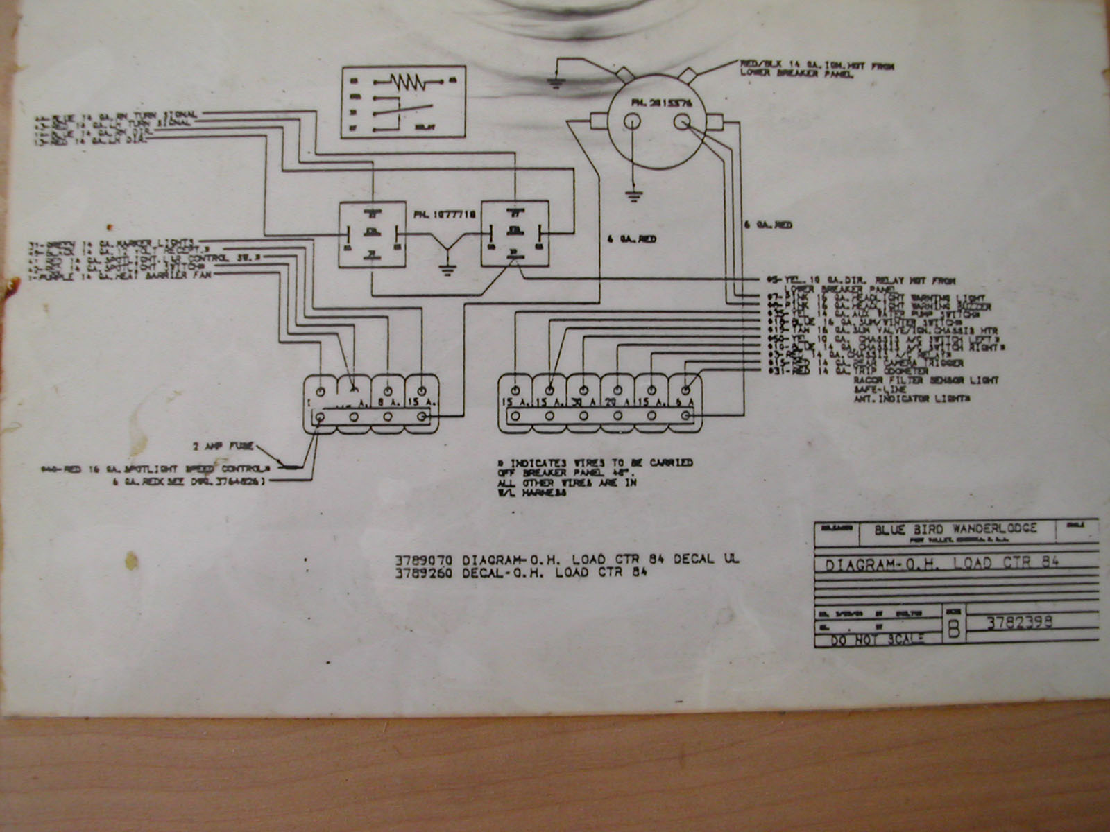 1984 Overhead Load Center www wanderlodgeownersgroup com downloads Bluebird Bus Electrical Schematics at edmiracle.co