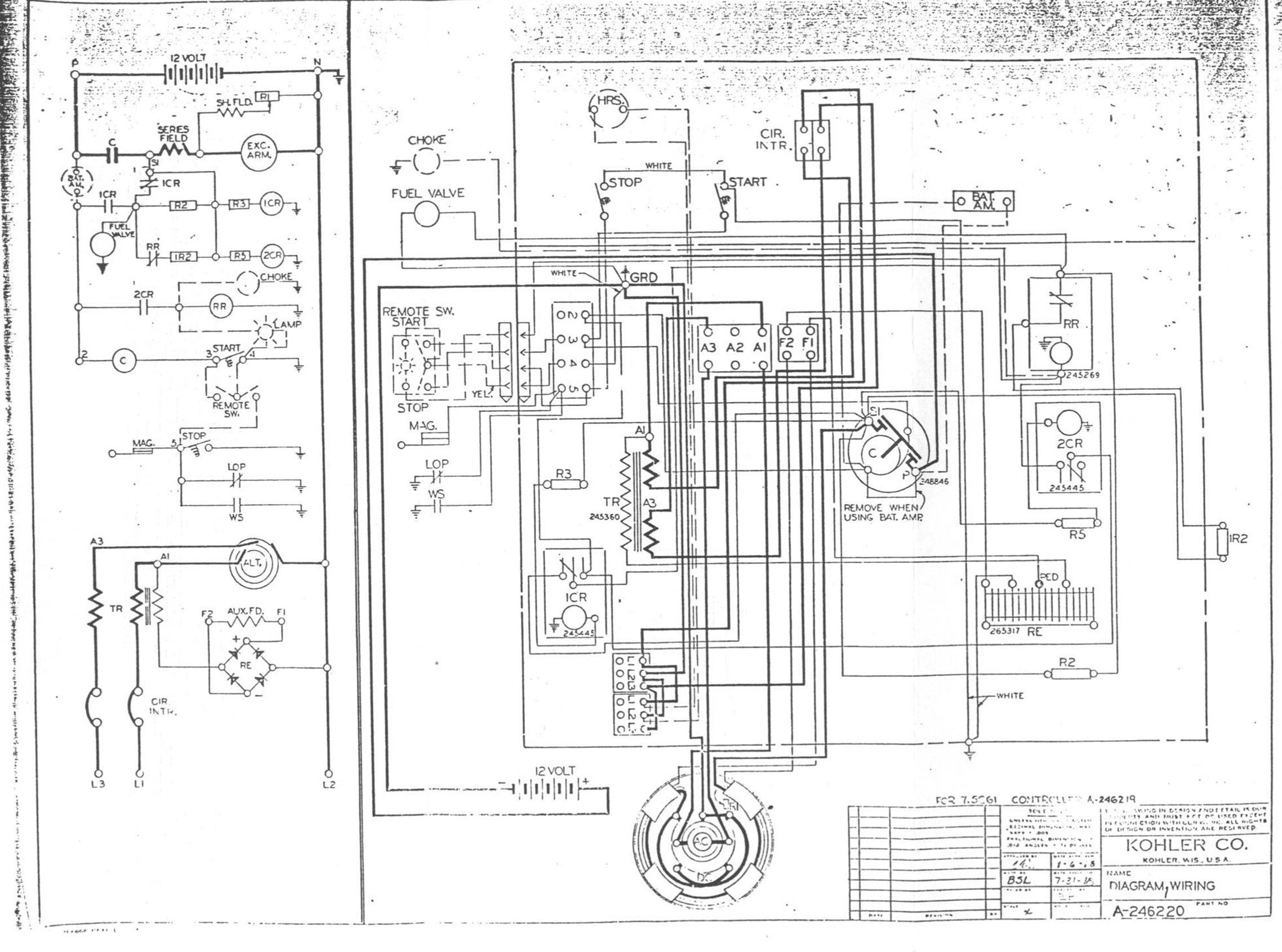 KOHLER DRAWING perkins genset engine & kohler manuals and information kohler generator wiring diagrams at gsmx.co