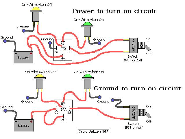 single light switch wiring diagram power into switch automotive light switch wiring diagram the bosch relay unraveled